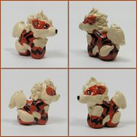 Mini Arcanine Sculpture by LeiliaClay