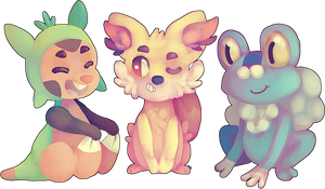 Pokemon X Y Starters by 3o2