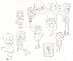 Gravity Falls Sketch Dump Side 1 by RosieMe