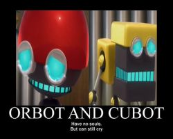 Orbot and Cubot Motivator by Eveningstar2000