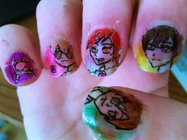 OHSHC nail art -right- by RyuzakiLivesOn
