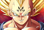 Majin Vegeta recolored by carapau