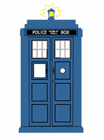The blue TARDIS by zigzag0395