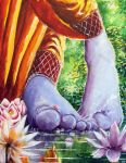 Krishna's feet by PJBhavsar