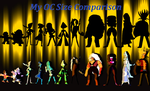 My Gem OC Size Poster: Canon and 4 Gemsonas by ToonEmpire24