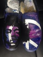 Custom painted Jimi Hendrix vans...purple gaze by dannyPs-customs