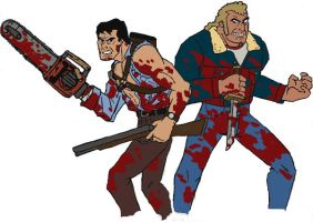 venture bros vs evil dead by ForgedwithFire