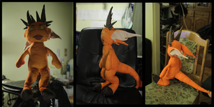 orange demon plushie by SagandeTeam