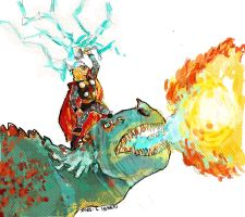 THOR -HOW TO TRAIN YOUR DRAGON by Cabout