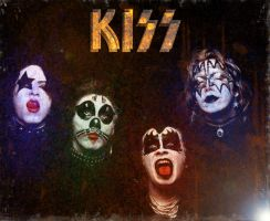 KISS LP cover by EARTHDOG420
