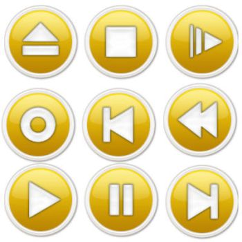 Media Player Icons - Yellow by datamouse