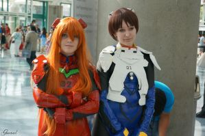 Asuka Langley Soryu and Shinji Ikari by Garivel