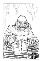 Creature from the Black Lagoon by victomon
