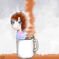 In my Hot Choclate Mug by yukicaster