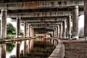 Under the motorway HDR by Foxseye