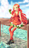 At The Sea by valiryn