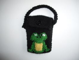 COMMISSION - Frog Phone Cozy by holls