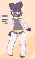 Reverse Color Panda Girl - Adoptable on FA by CoffeeChicken
