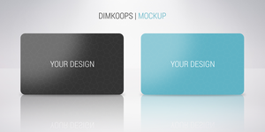 Plastic Card mockup by dimkoops