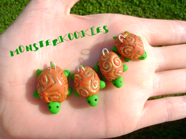 4 Little Turtles All In A Row by monsterkookies
