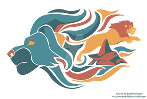 The Lion King Print by SurefootDesigns
