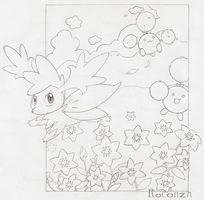 Shaymin sky form: Glacidea by xXRoconzaXx