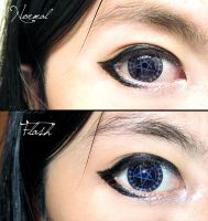 Kuroshitsuji Ciel Contract Contact Lense by Taymeho