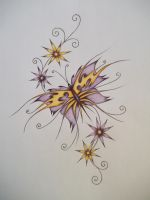 Tattoo Design Coloured by LianneC