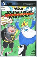 The Justice League of America Adventure Time by johnnyism