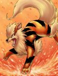 Arcanine's fire by michellescribbles