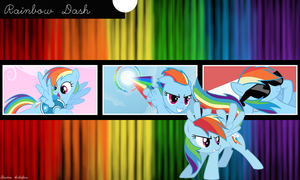 Rainbow Dash - Simple and Cool by DevineArtistics
