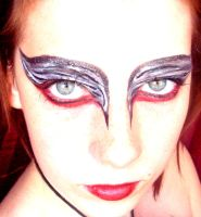 Black swan makeup by Arisusandasu