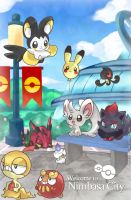 PKMN-Welcome to Nimbasa City by Mikoto-chan