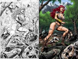 Red Sonja 45 page 10 by wgpencil