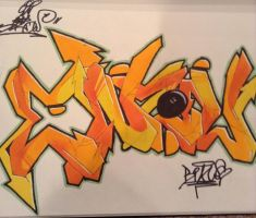 Graffiti Black Book Piece by EnzowGraffiti