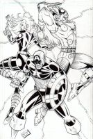Avengers Trio Inked by CliffEngland