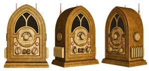 Steampunk Radio PNG Stock by Roys-Art