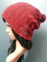 Cro-knit Slouch beanie by AAMurray