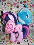 (MLP)Twixie Plushies Together by KrazyKari