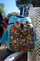 Butters the Butterfly Steampunk Owl Plush by livetoletlive