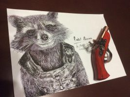 Rocket Raccoon by AyvazyanMara