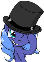 Luna in a Top Hat by AnEvilZebra