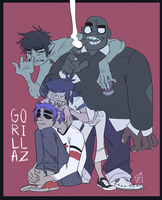 Gorillaz by mellow-monsters