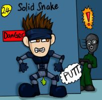 Metal Gear Solid: Funny Snake by nineknives