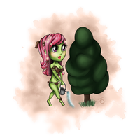 Flora and her Tree by TeaQuill by Detective-Barricade