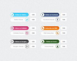 Social media switches - psdchest.com freebie by Shegystudio