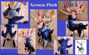 Chibi Xerneas Plush by Forge-Your-Fantasy