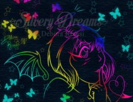 Divly style 2012 - black and rainbow by SilveryLugia