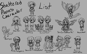 Shattered Planes Character Lineup Chibis