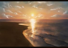 Landscape 02 - Sunset by SweetLhuna